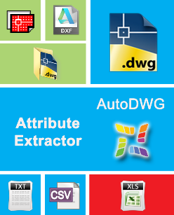 Extractor attribute autodwg