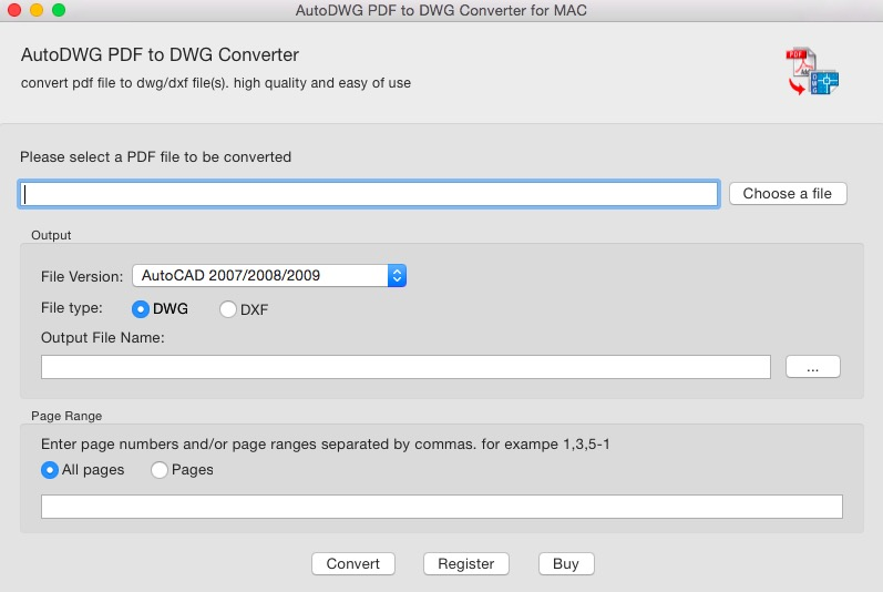 PDF to DWG Converter Mac, Convert pdf to dwg Accurately