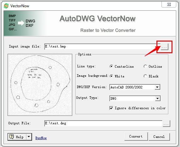 VectorNow-Raster to Vector Converter, TIFF to DWG, BMP to DWG etc